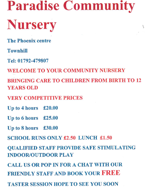 nursery advert