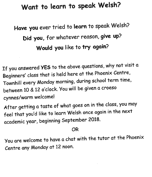welsh classes