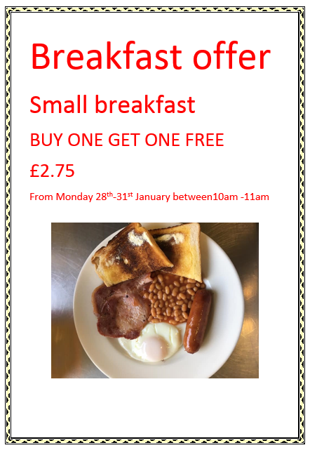 breakfast offer
